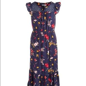 Epic Threads maxi floral lace dress for girls sz L